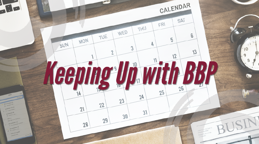 BBP Fall 2018 Events Calendar